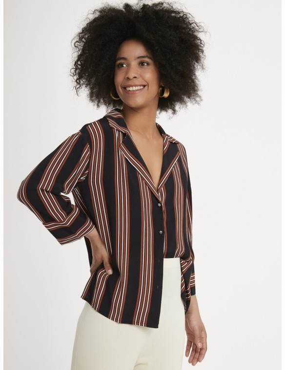 Viscose striped shirt.