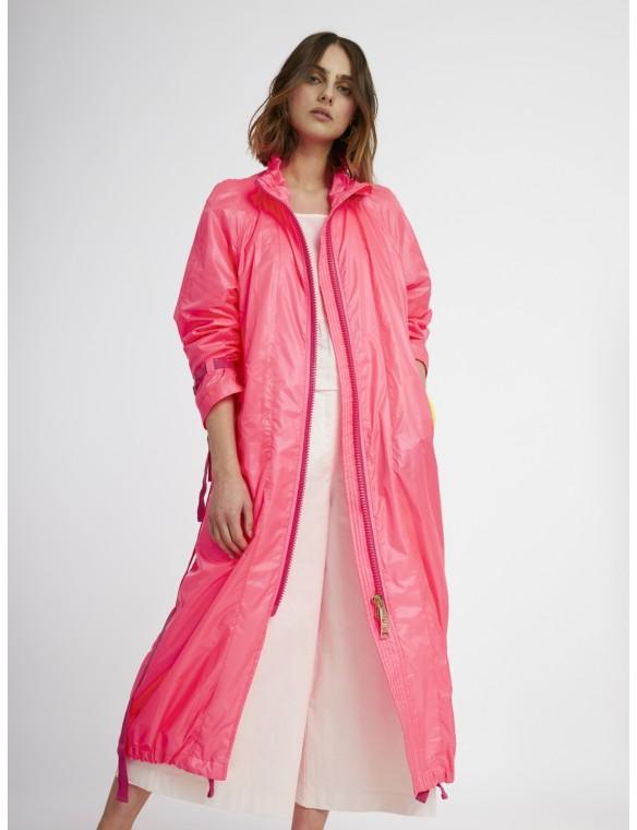 Windbreaker long pink fluor.