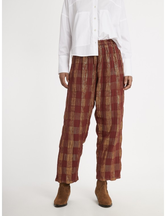 Lurex striped pants.