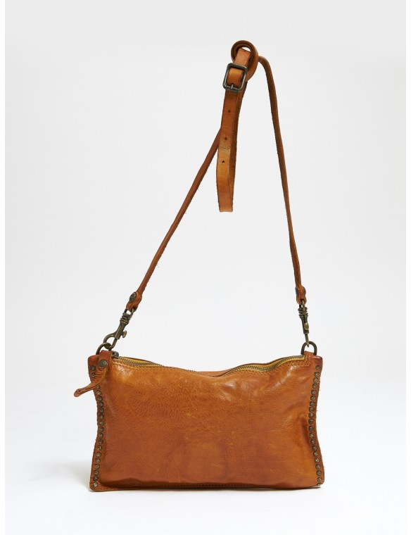 Skin shoulder bag mustard...
