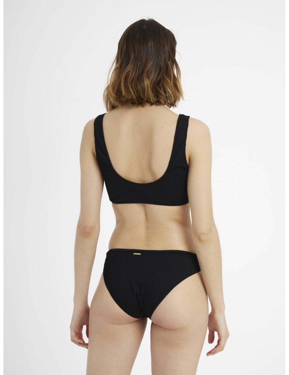 TOP bikini negro botones