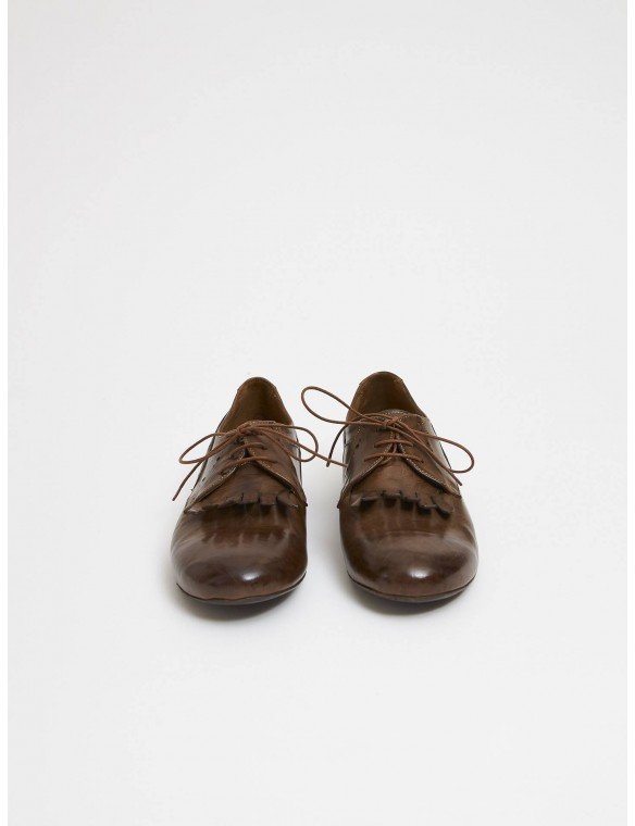 Leather shoes with laces...