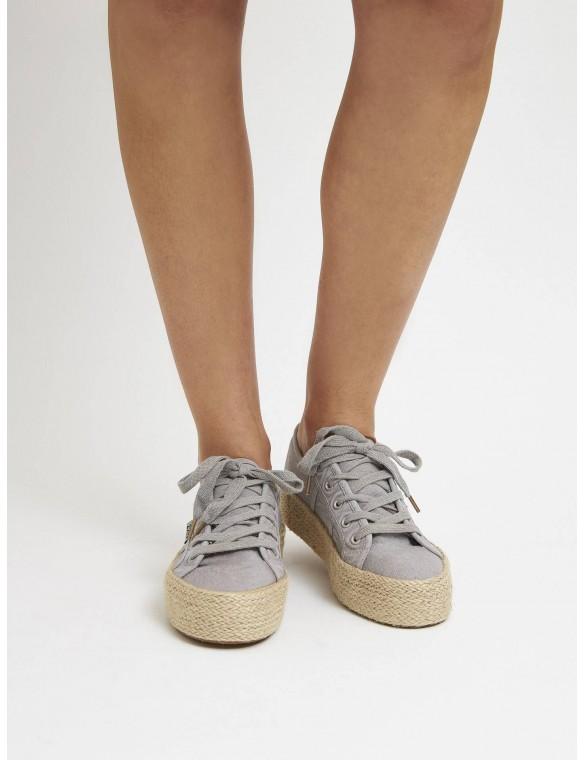 Flax shoe platform esparto.