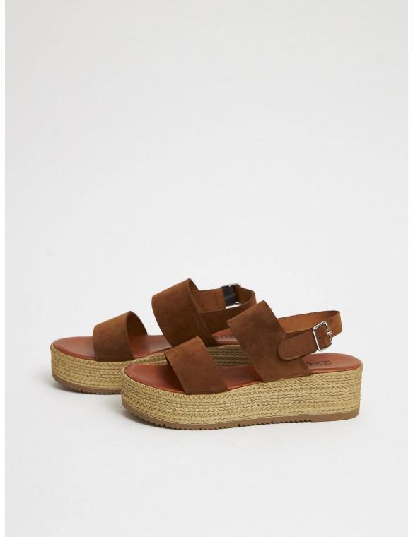 Strip dual platform sandal.