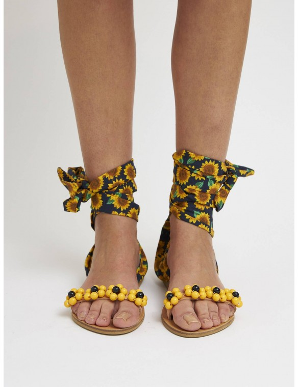 Sunflowers sandal lacing.