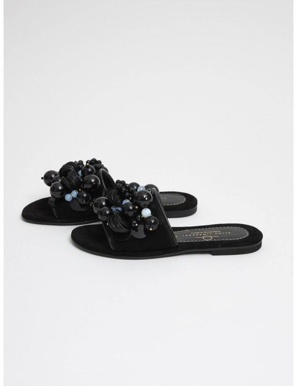 Black sandal beads.