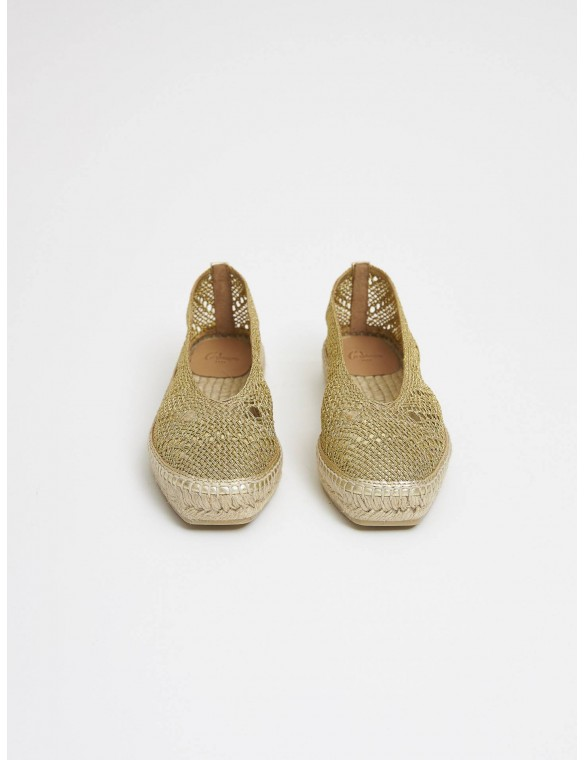 Espadrille golden grid.