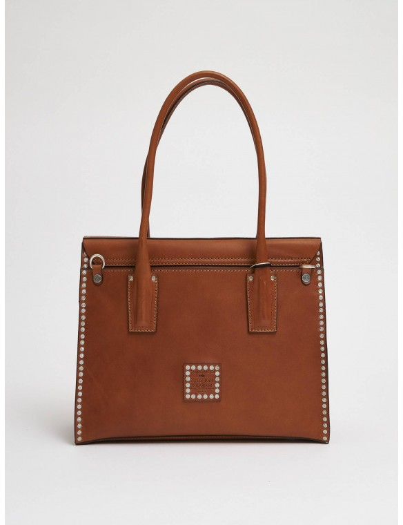 Large Leather Square Bag...
