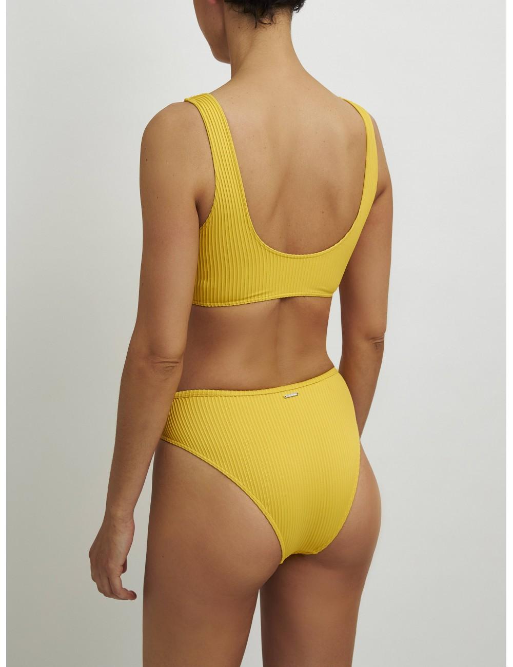 Braga bikini cruzada amarilla