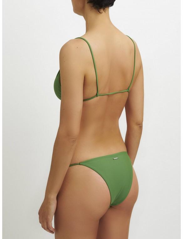 Braga thin strip green bikini.