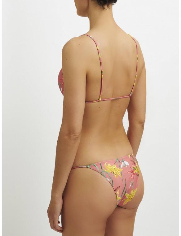 Braga bikini tira fina floral