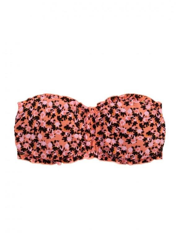 Bandeau bikini flowers.