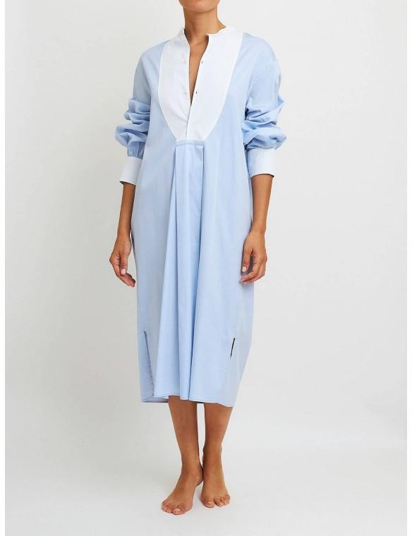 White collar dress.