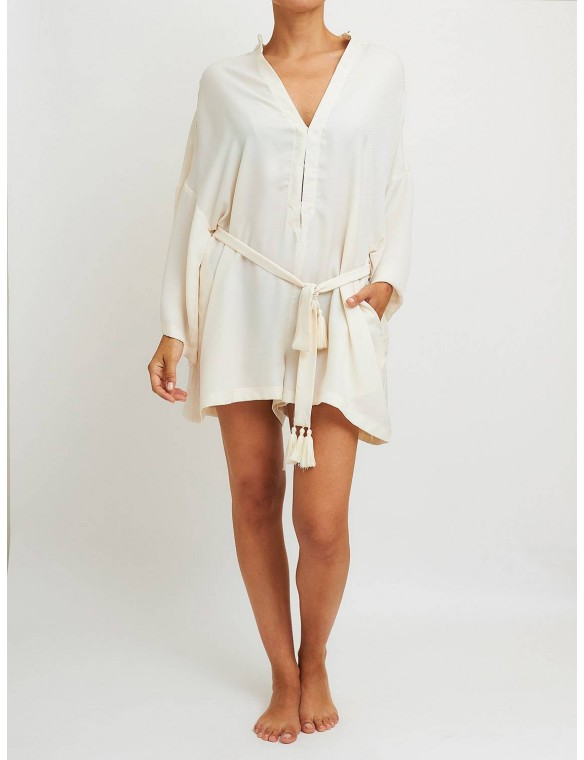 Long-sleeved playsuit.