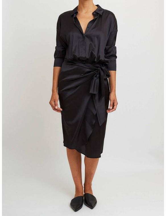 Silk dress pareo.