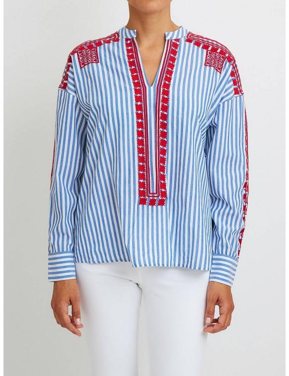 Multicolored blouse.