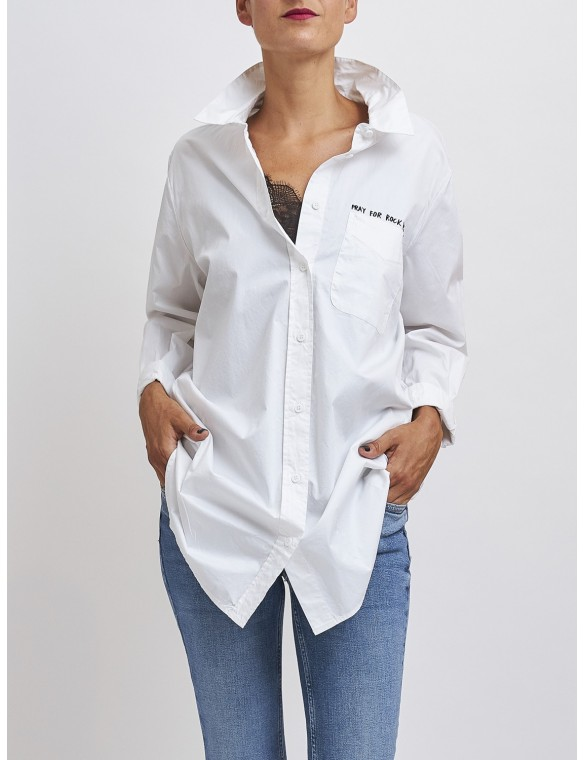 The Pray rock cotton shirt