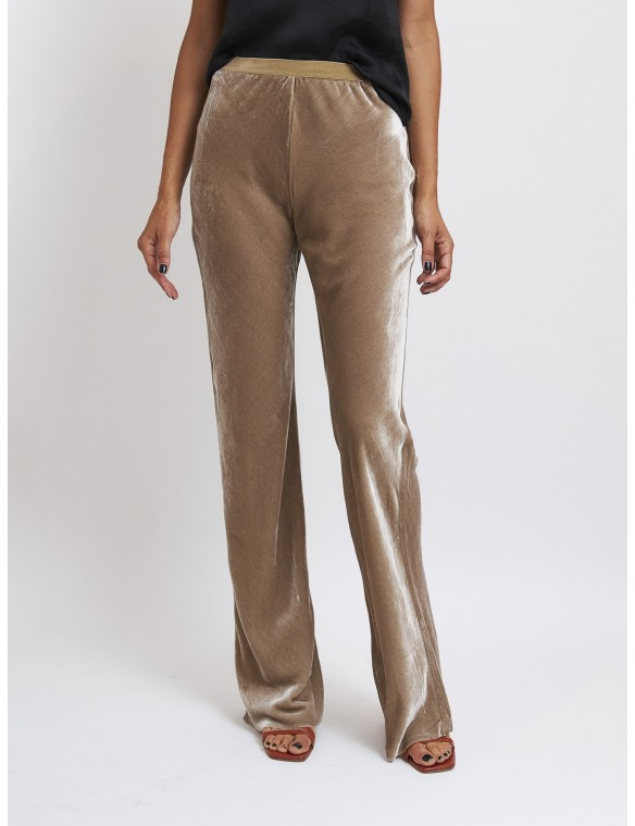 Long wide-legged pants with...