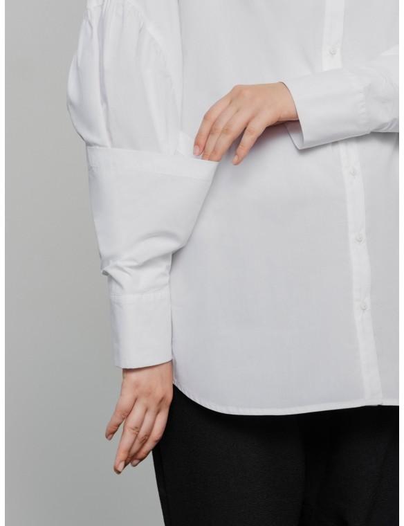 Sleeved poplin shirt fantasy.