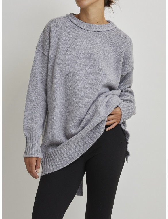 Oversize jumper with back...