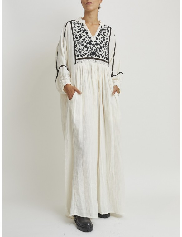 Cotton embroidered long dress