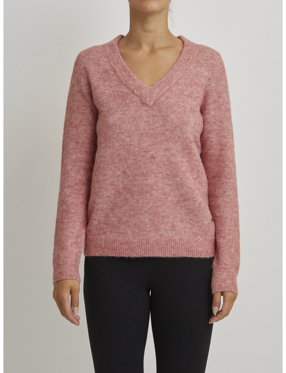 "Pink Sweater with ""V"" neck"