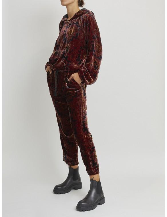 Printed Velvet pants