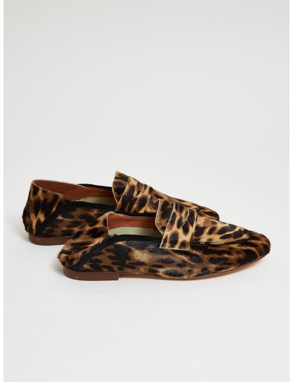 Mocasín estampado leopardo