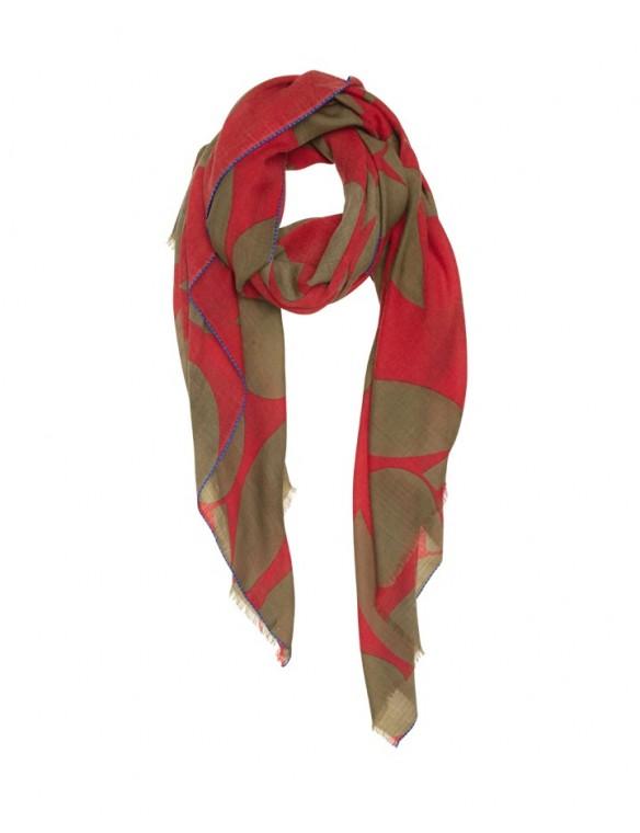 Bicolour scarf