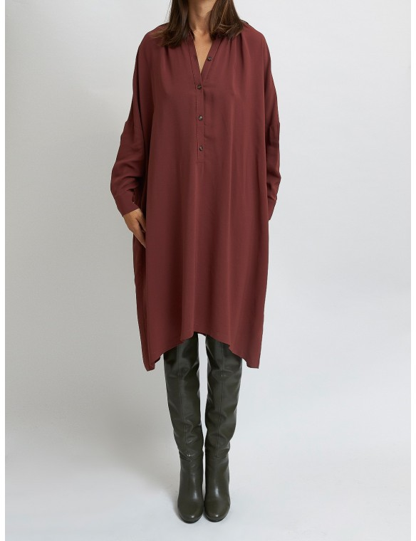Oversize dress with round neck
