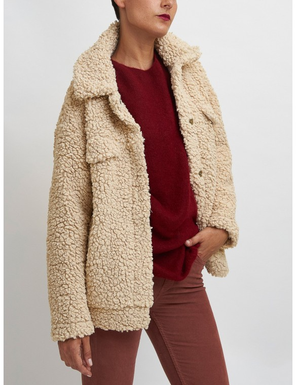 Vegan faux sheep jacket