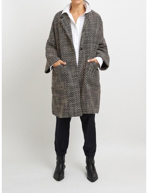 Bicolor oversize coat. MAAZI