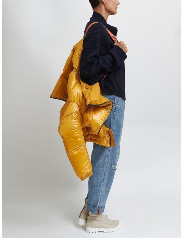 Puffa jacket waist elastic...