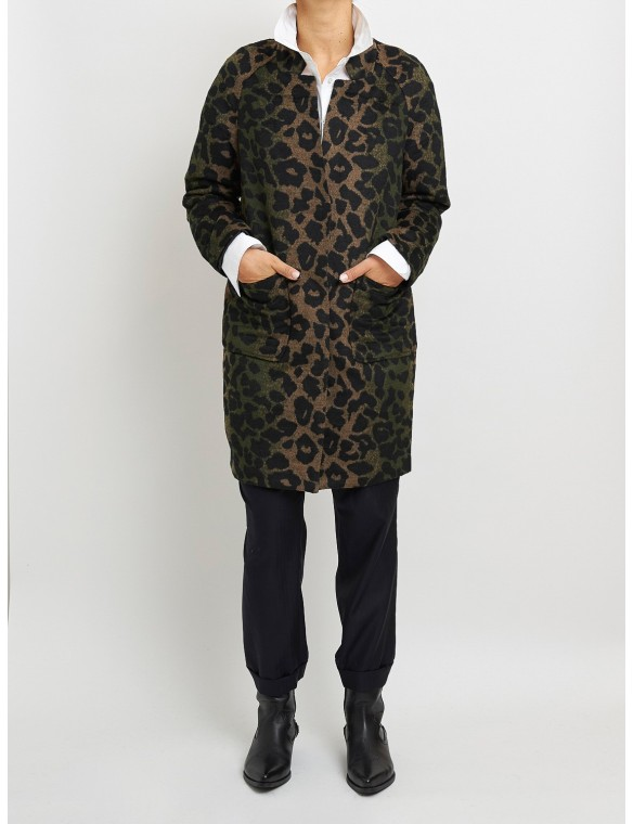 Short leopard coat