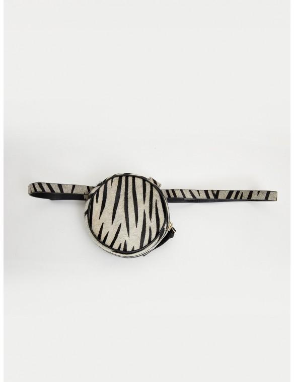Zebra round waist bag