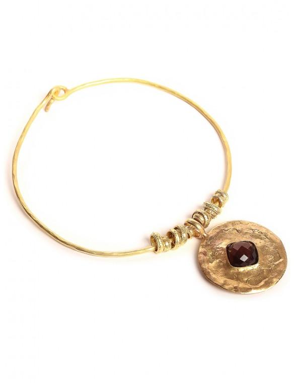 Chocker with tiger eye pendant