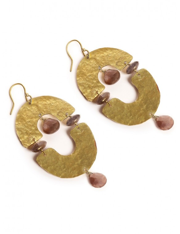 Semicircular arch earrings