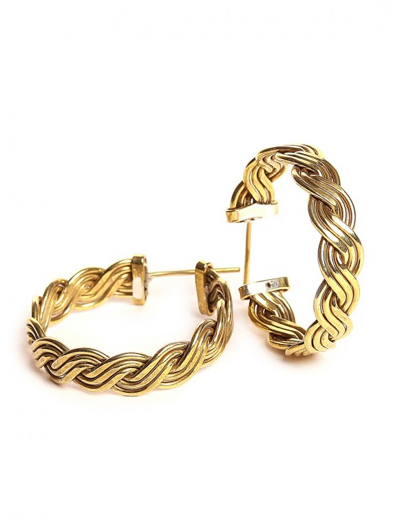 Braided earring