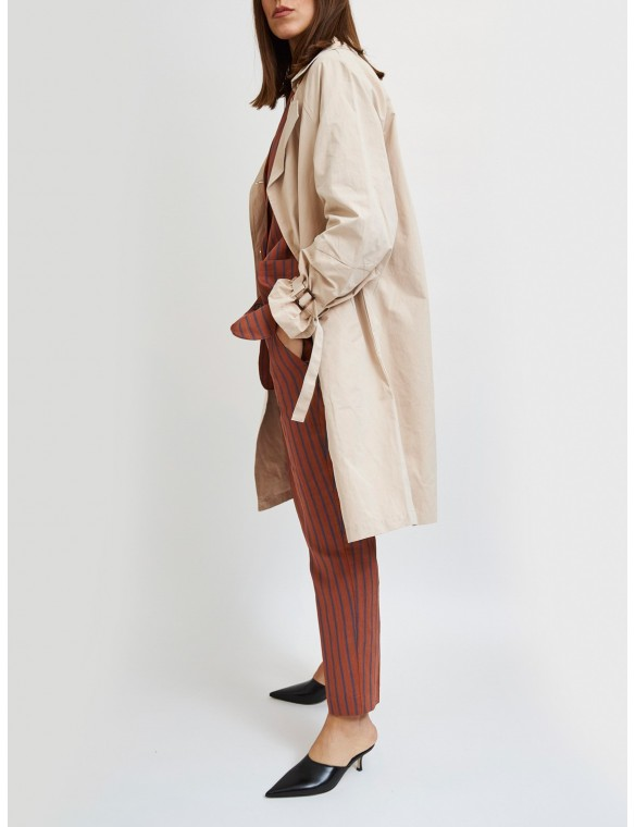 Trench coat with sleeve...