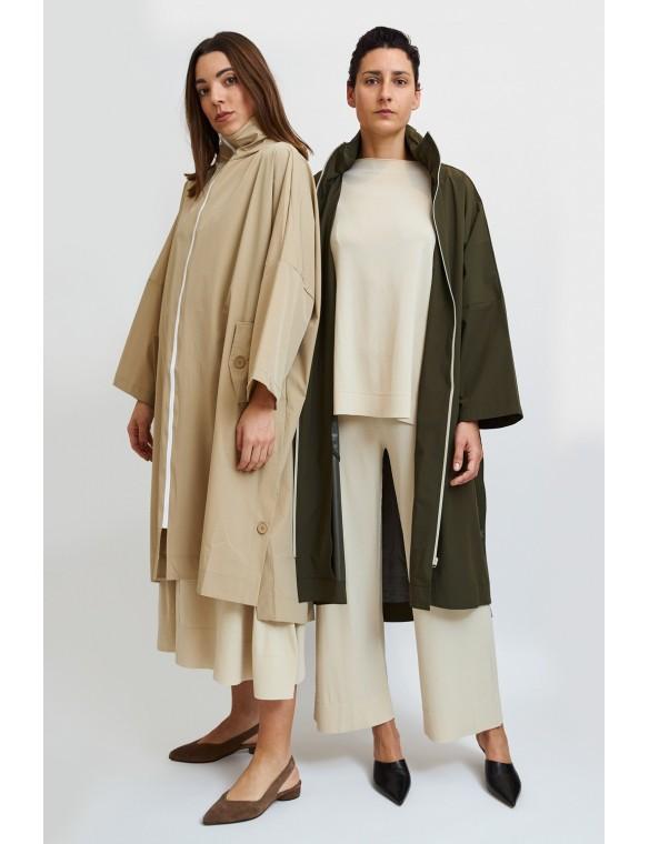 Long Raincoat with zip