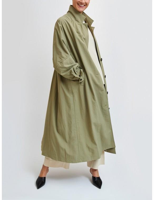 Long raincoat with shirt...