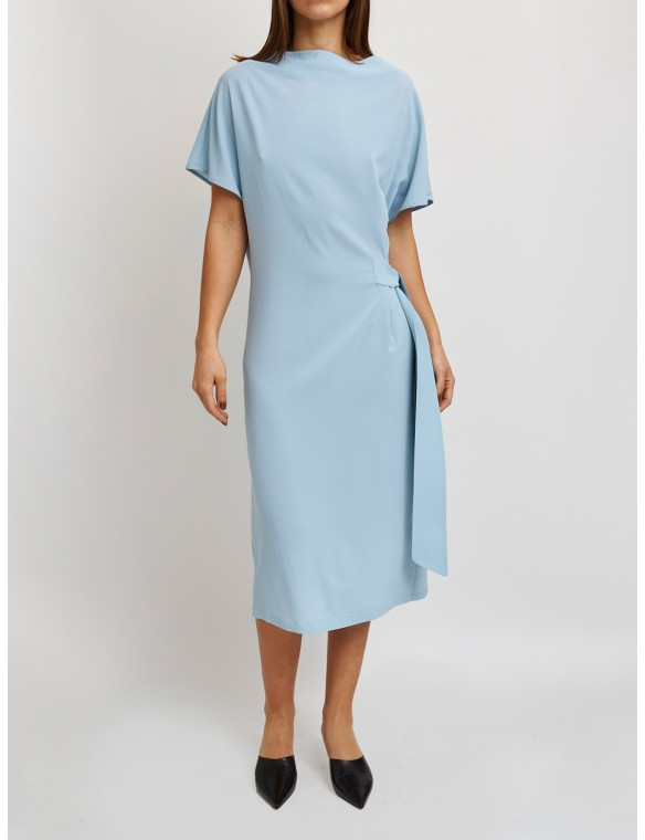 Midi dress with side tie