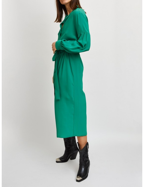 Dress with Mao neck and...