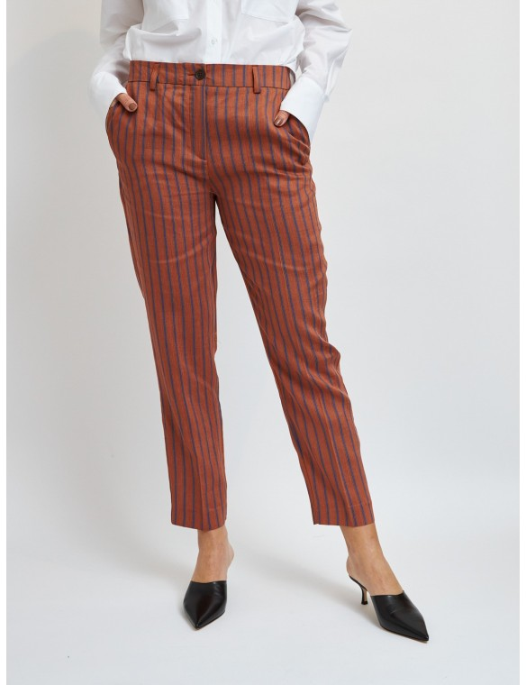 Diplomatic stripe ankle pants