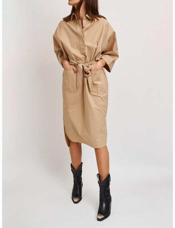 Oversize dress with shirt...