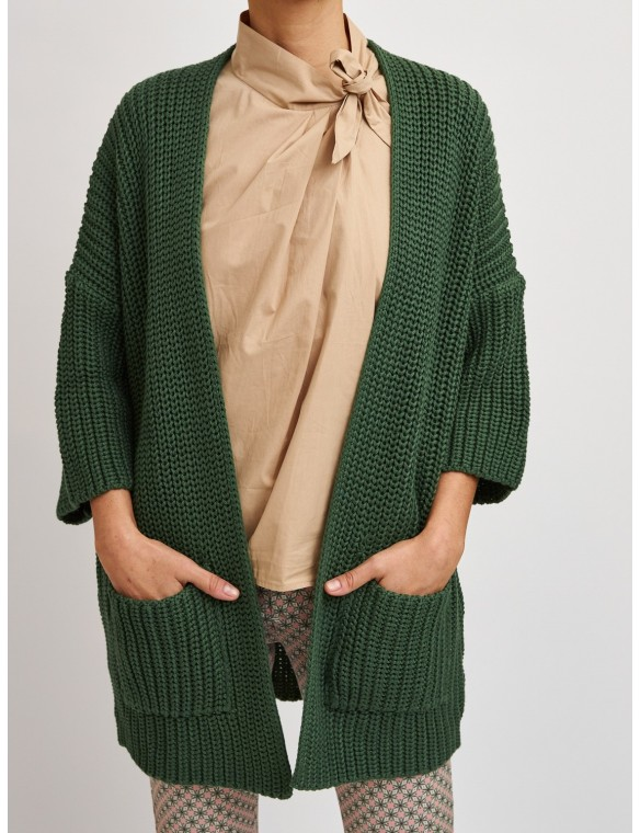 Oversize knitted jacket