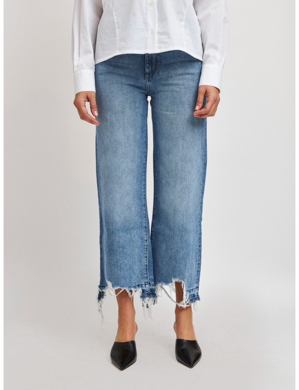 Broken bass high waist jeans