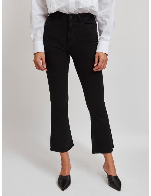 Jeans recto cintura alta...