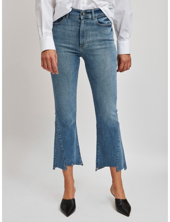 High waist jeans with bell...