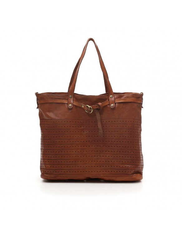 Embossed leather Shopping